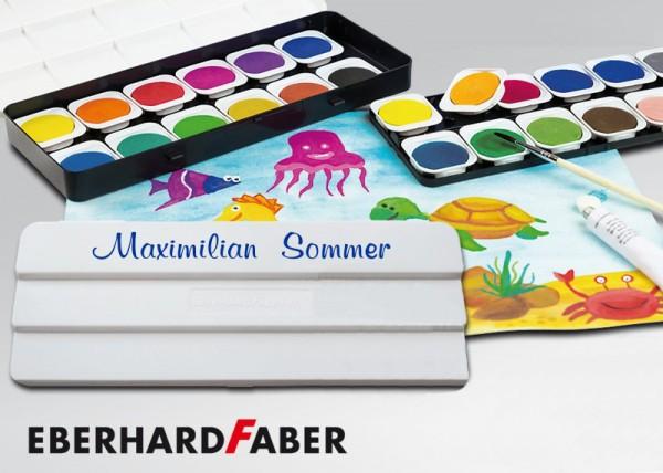 Wasserfarben-Malkasten mit Wunschname, 24 Farben