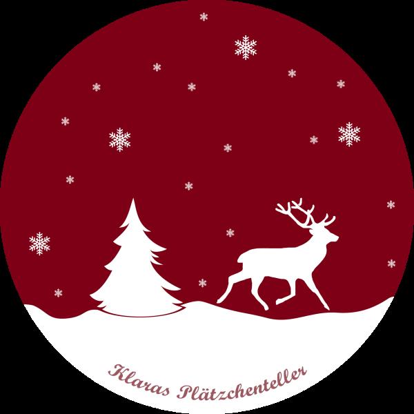 Weihnachtsteller - Schnee