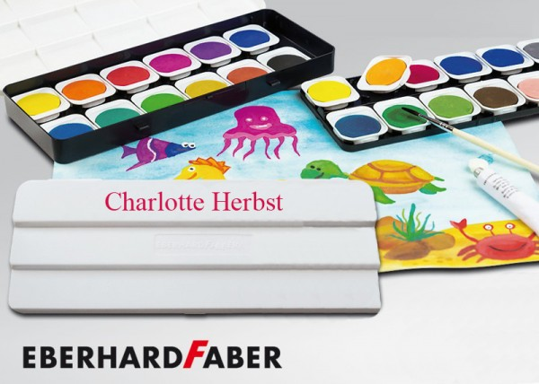 Wasserfarben-Malkasten mit Wunschname, 12 Farben