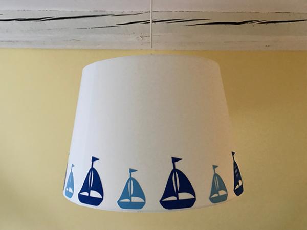 Lampenschirm weiß selbst gestalten - verschiedene Größen
